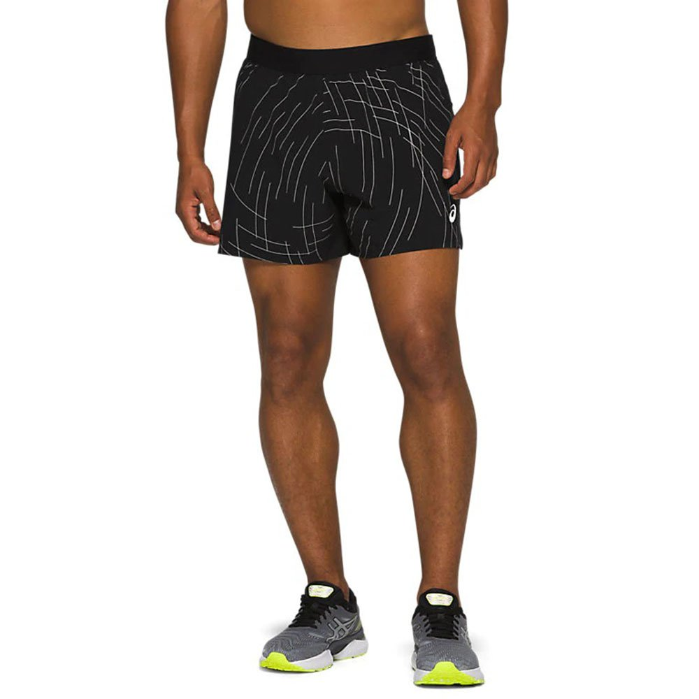 asics night track short m czarne