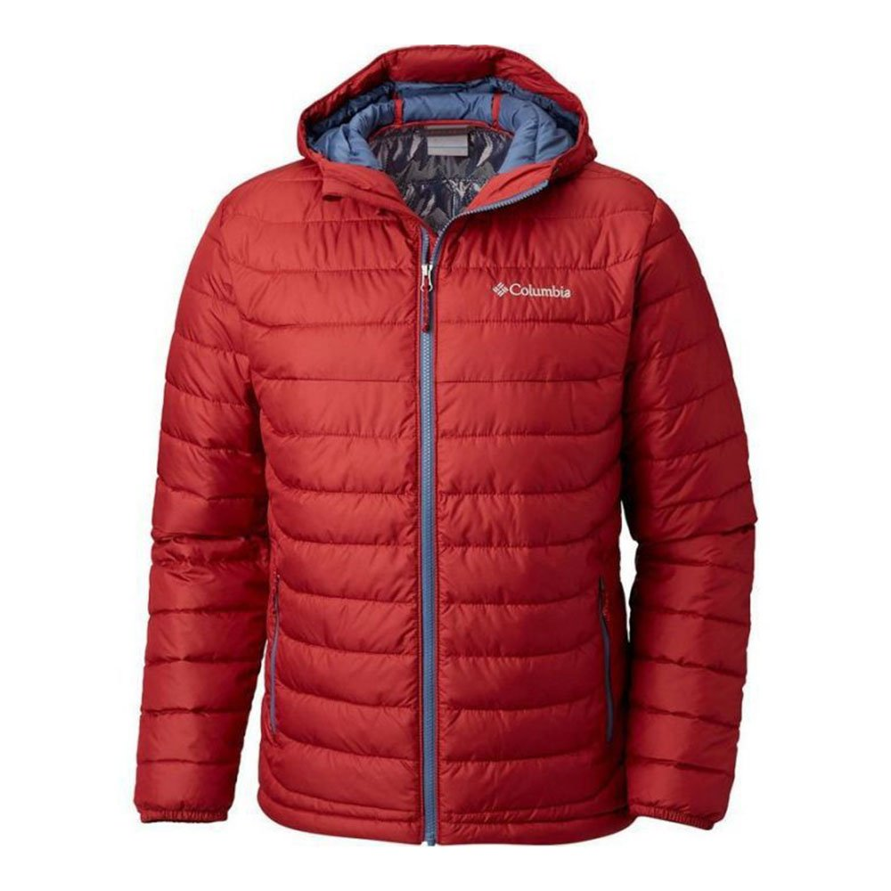 columbia powder lite™ hooded jacket czerwona