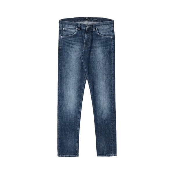 edwin ed-85 slim tapered drop crotch jeans (i027223-01yv)