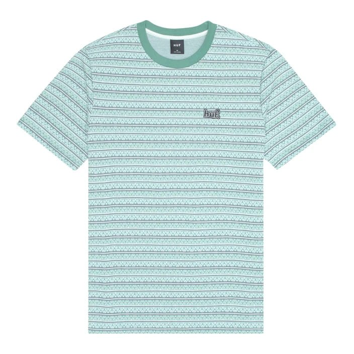 huf allen short sleeve knit top (kn00164-hbgry)