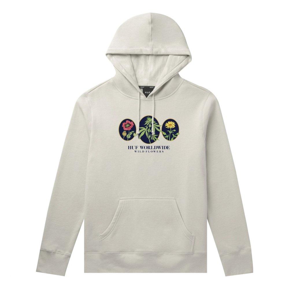 huf wild flowers 2 pullover hoodie (pf00282-unblc)