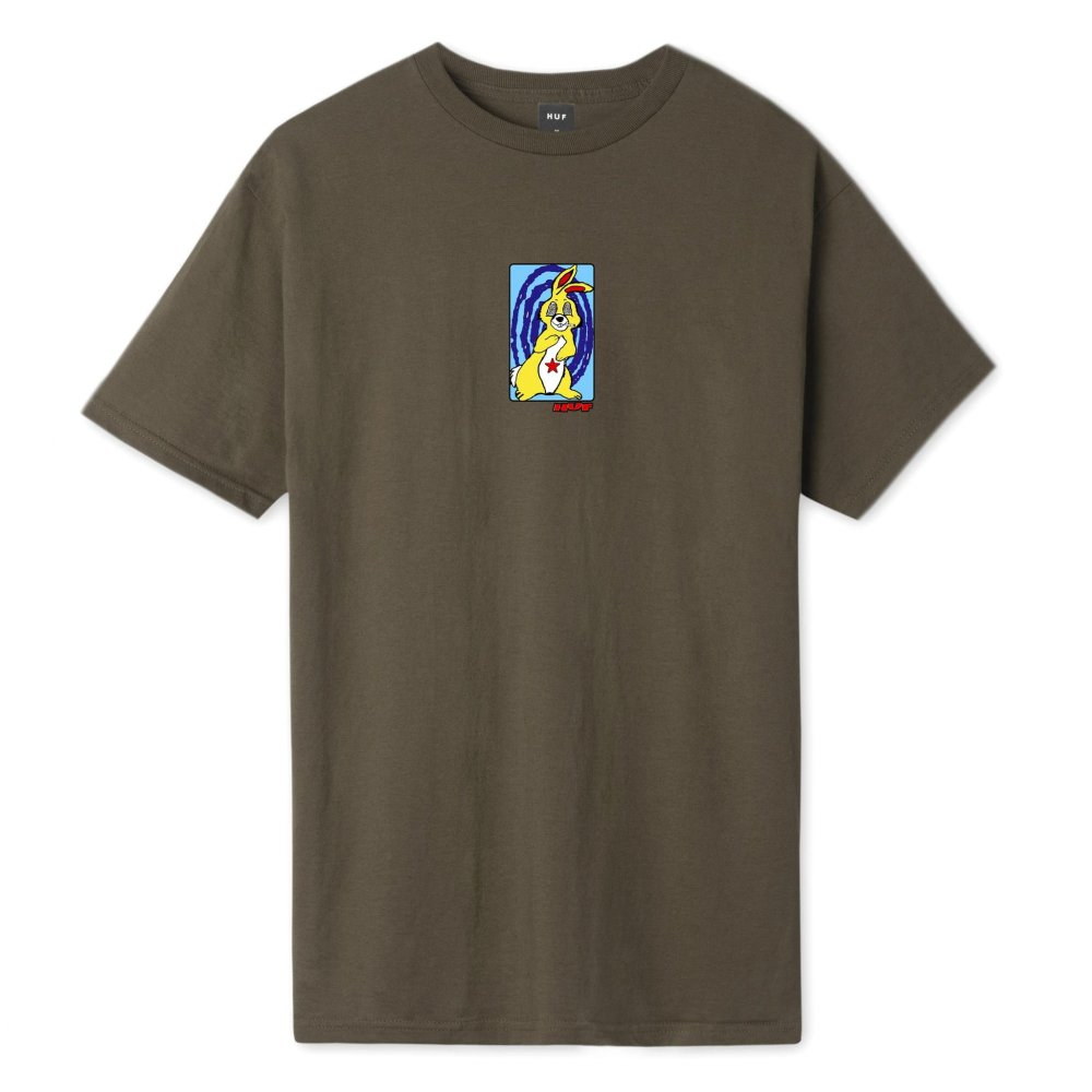 huf messed up bunny t-shirt (ts-01194-choco)