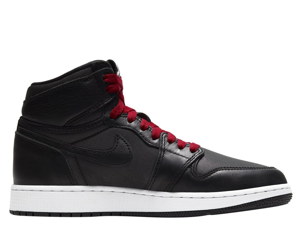 "air jordan 1 retro high og (gs) ""black satin"" (575441-060)"