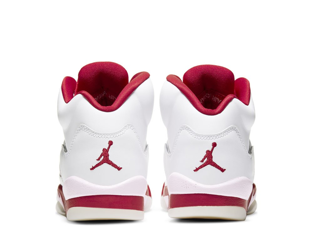 "air jordan 5 retro (gs) ""white pink red"" (440892-106)"