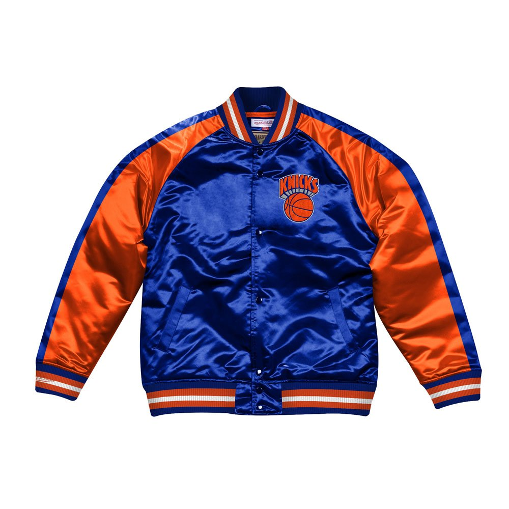 mitchell & ness jacket  new york knicks (stjksc19007-nykroya)