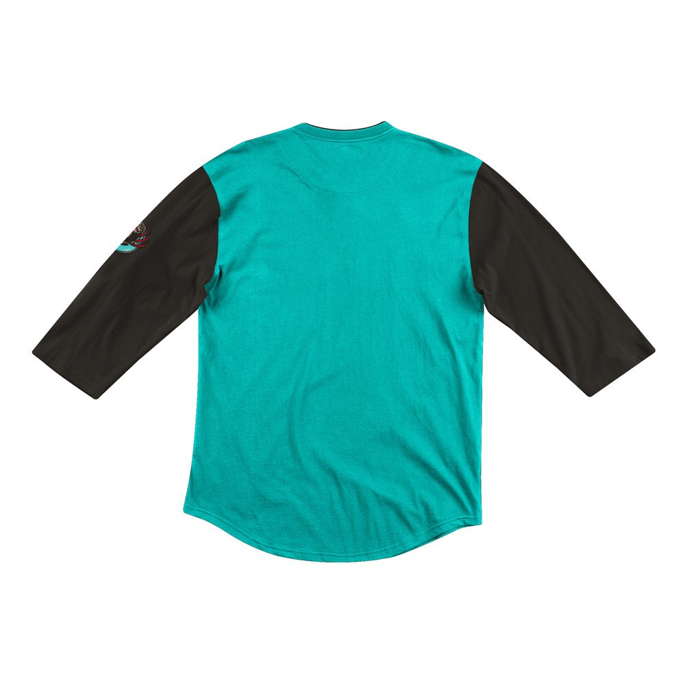 mitchell & ness team inspired longsleeve vancouver grizzlies (henlaj19006-vgrteal)