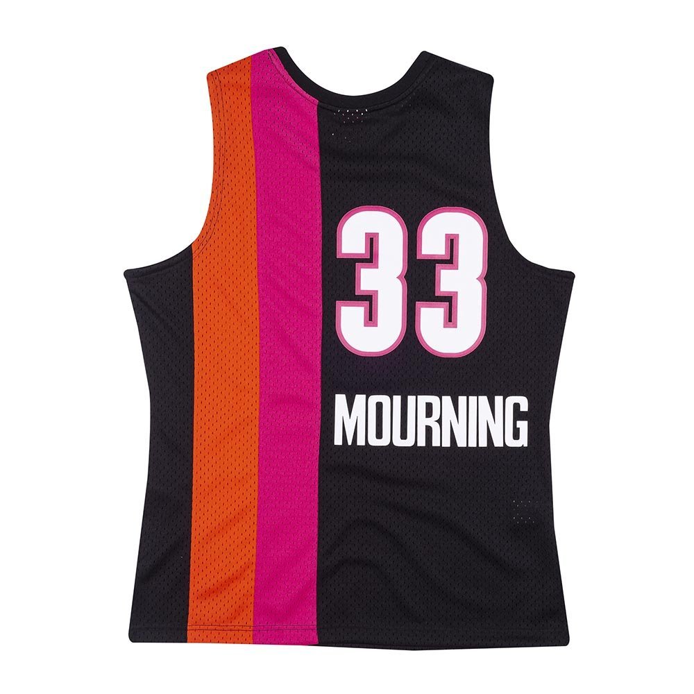 mitchell & ness nba swingman jerseys miami heat - alonzo mourning #33 (smjycp19242-mheblck0)