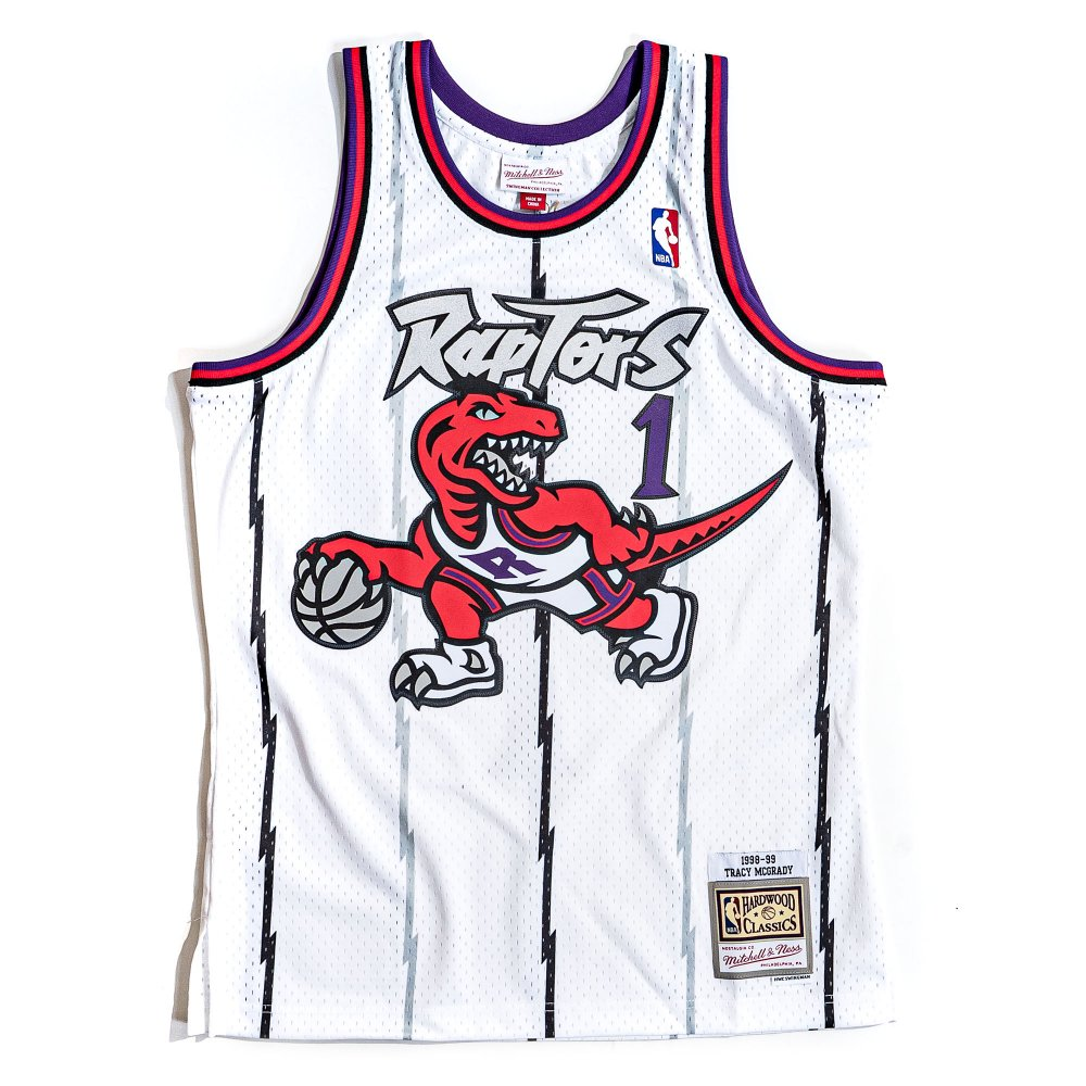 mitchell & ness nba swingman jerseys toronto raptors - tracy mcgrady #1 (smjyac18106-trawhit9)