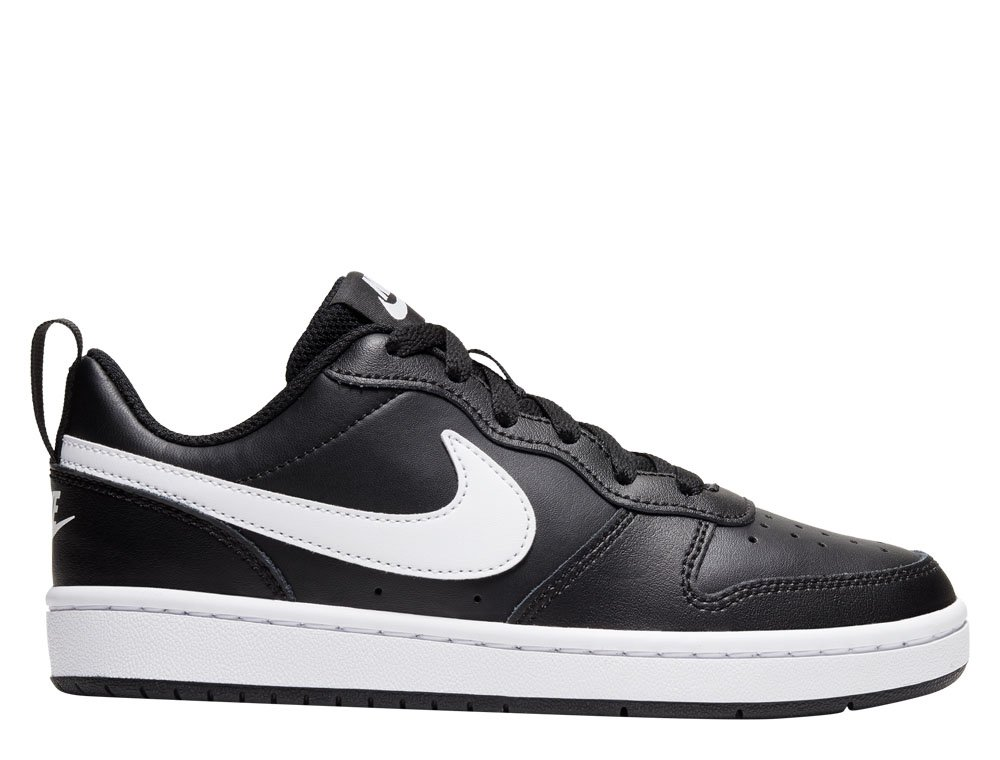 nike court borough low 2 (gs) czarno-białe
