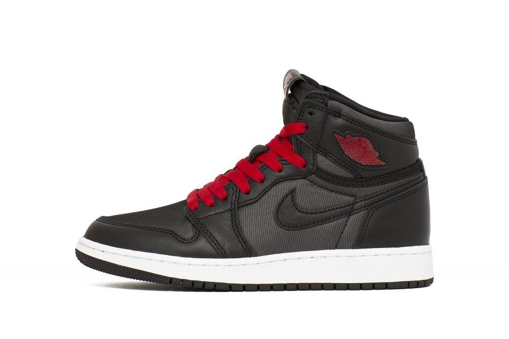 air jordan 1 retro high og 'black satin' (gs) (575441-060)