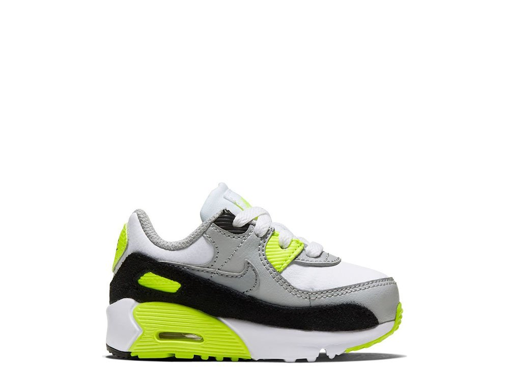 nike air max 90 leather (td) szaro-limonkowe