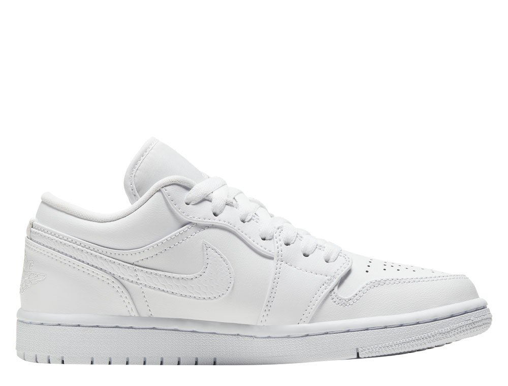"women's air jordan 1 low ""triple white"" (ao9944-111)"