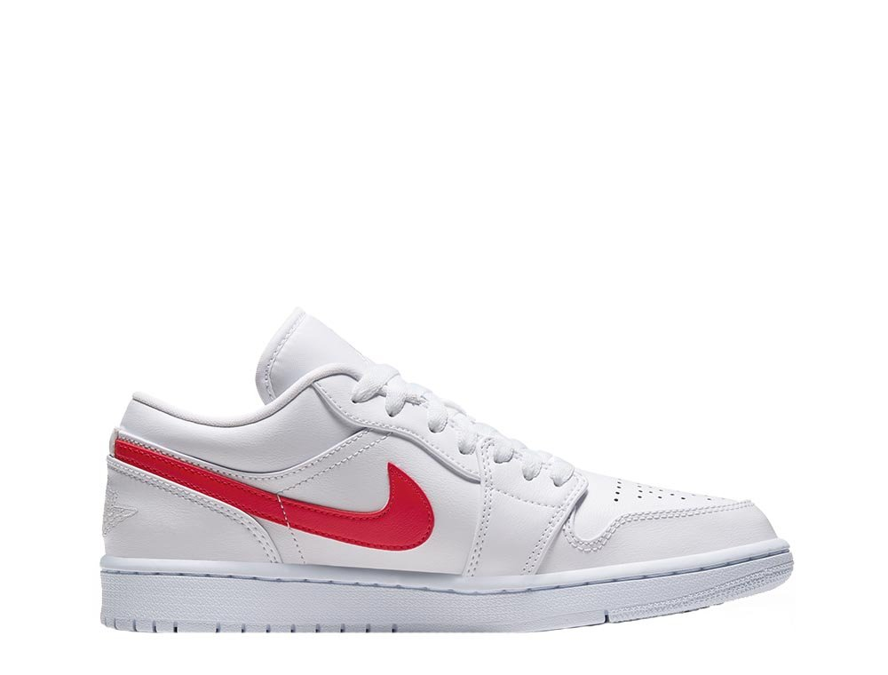 "women's air jordan 1 low  ""white university red"" (ao9944-161)"