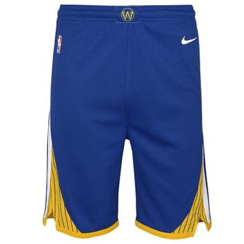 nike nba golden state warriors swingman road short junior (2z2b7babz-war)