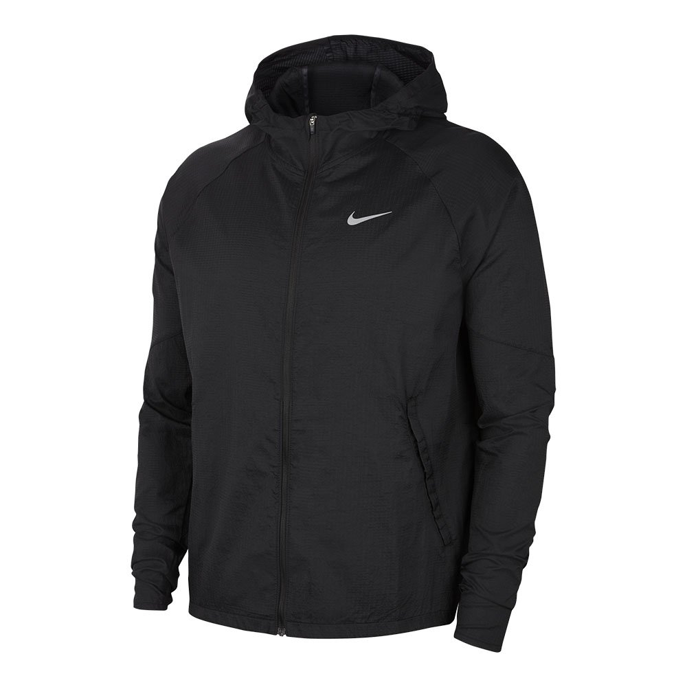 nike essential  running jacket m czarna