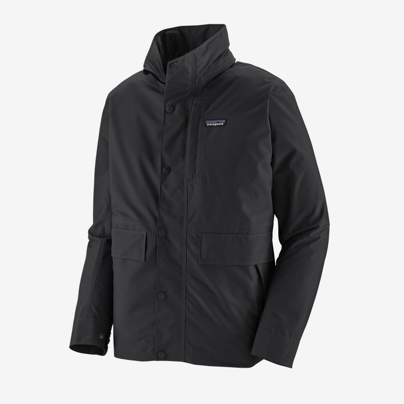 patagonia men's light storm waterproof jacket (20715-blk)