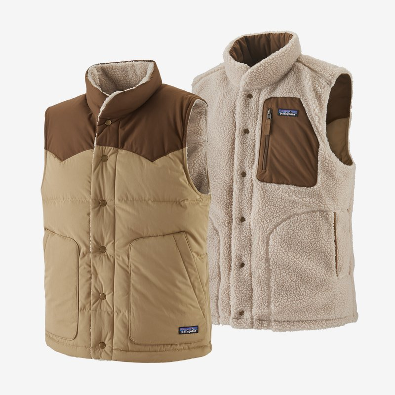 patagonia men's reversible bivy down vest (27588-csc)
