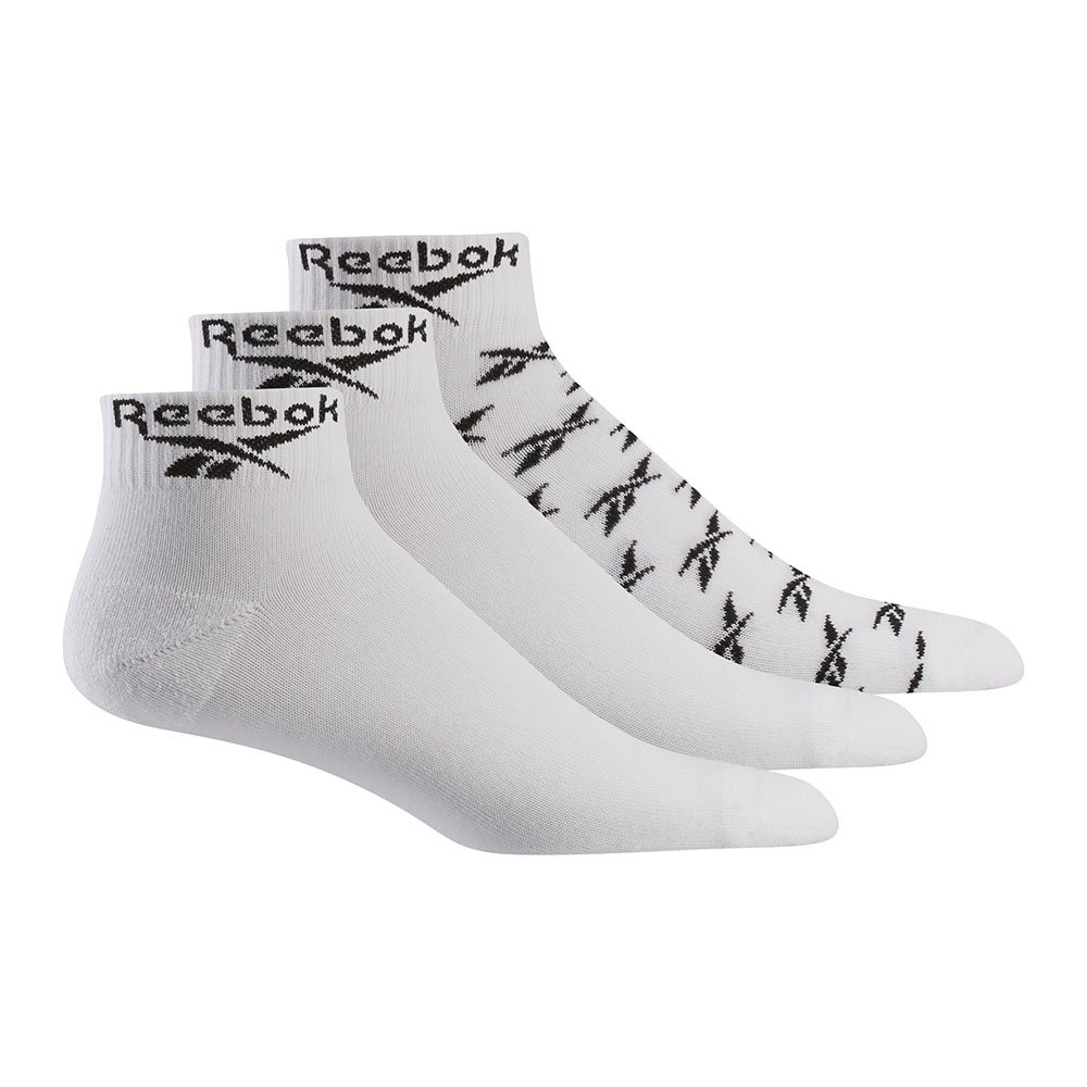 reebok active low cut sock 3pak białe
