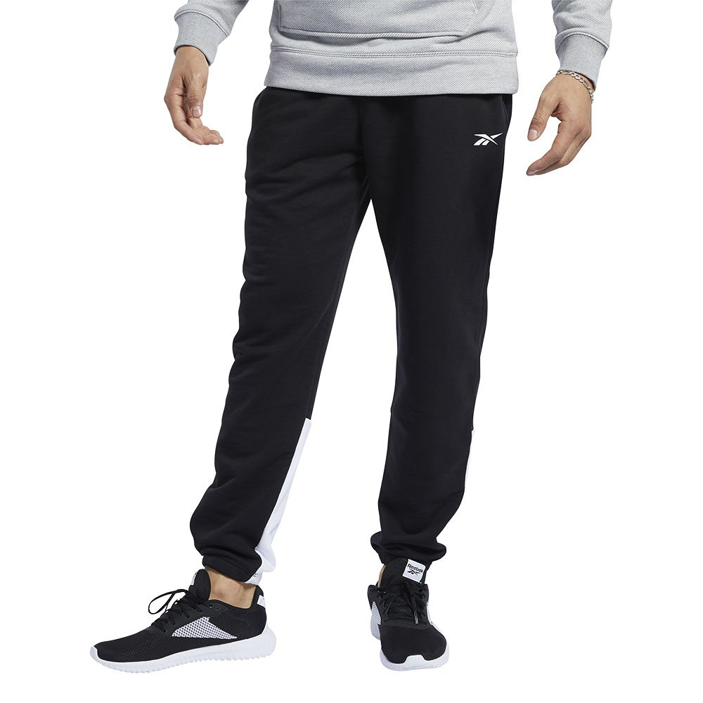 reebok training essentials linear logo czarne
