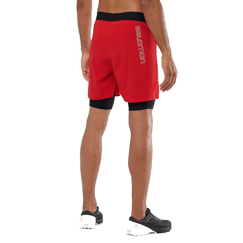 salomon exo motion twinskin short m czerwone