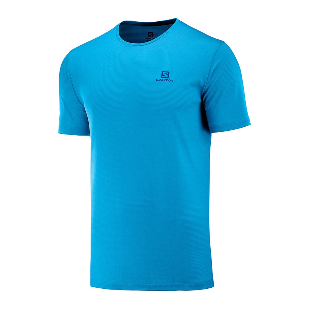 salomon agile training tee m niebieska