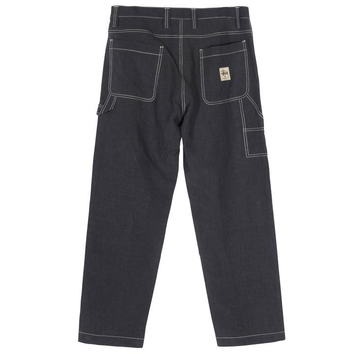 stussy solid linen work pant (116442-0002)