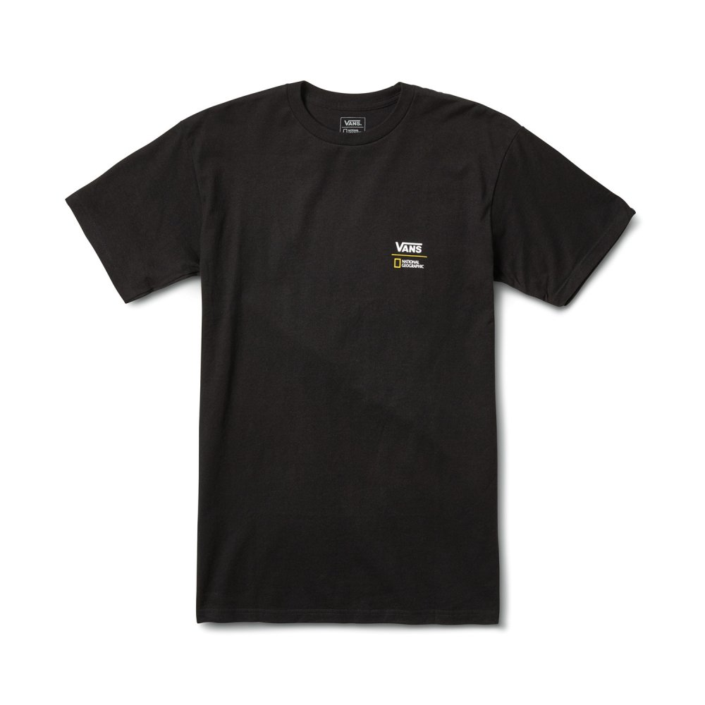 vans x national geographic tee (vn0a4mshblk)