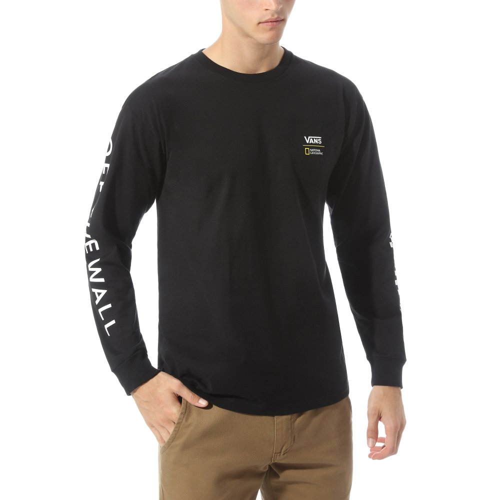 vans x national geographic longsleeve (vn0a4msgblk)