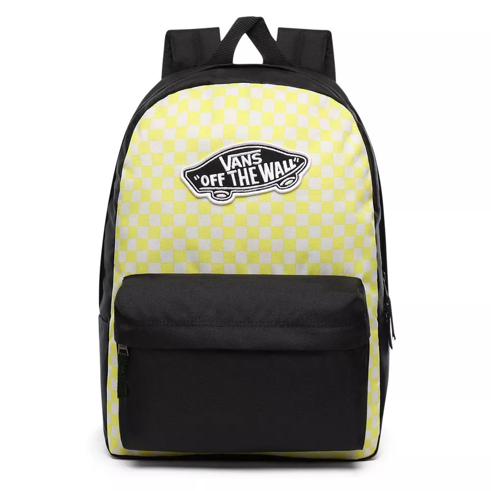 vans realm backpack lemon tonic checkerboard