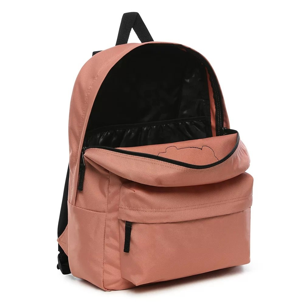 vans wm realm backpack różowy