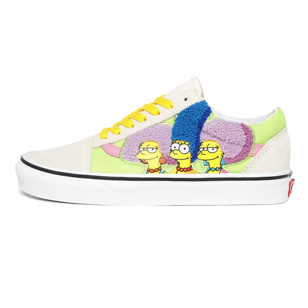vans x the simpsons old skool (vn0a4bv521m)