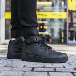 """nike air force 1 mid (gs) """"all black"""""""