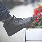 "nike air force 1 mid (gs) ""all black"""