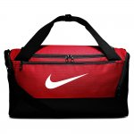 nike brasilia training duffel bag small ( 41l) czerwona