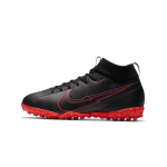 """nike mercurial superfly 7 academy tf junior """"black x chile red pack"""" (at8143-060)"""