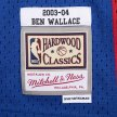 mitchell & ness nba swingman jerseys detroit pistons - ben wallace #3 (smjyac19108-dpiroya0)