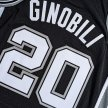 mitchell & ness nba swingman jerseys san antonio spurs - manu ginóbili #20 (smjyac18102-sasblck0)