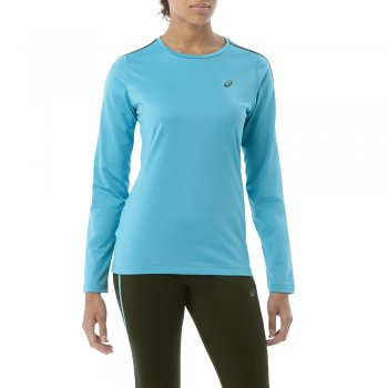 bluza asics long sleeve winter top w błękitna