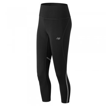 legginsy new balance fashion run crop w czarne