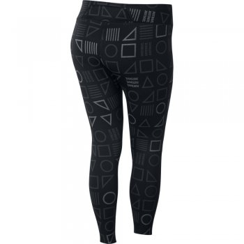 legginsy nike epic lux flash printed tights w czarne