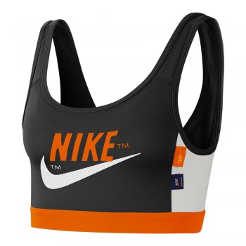 stanik nike swoosh icon clash medium-support sports bra czarno-pomarańczowy