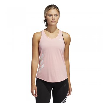 koszulka adidas own the tank 3-stripes pb tank top w różowa