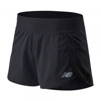 spodenki new balance core 3in short w czarne