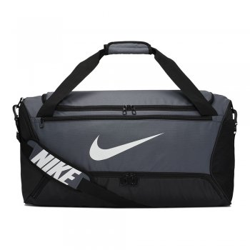 torba nike brasilia training duffle bag medium (60l) szara