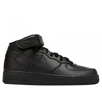"""nike air force 1 mid (gs) """"all black"""" (314195-004)"""